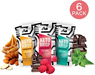Keto Krisp, High Protein Snack Bar, Keto Friendly, Gluten Free, Low Carb and Sugar (Variety Pack (6-Bars))