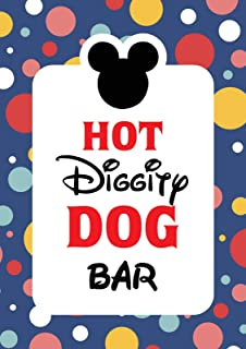Mickey Mouse Party supplies | Mickey Mouse Clubhouse inspired Door Sign | Hot Diggity Dog Bar Party Sign - 8 x 10 size - Printed in Card Stock