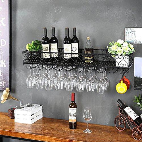 XAGB Estante de Vino for Colgar en Europa Estante de Copas de Vino Creativo al revés Estante de Vidrio for Vino Restaurante Bar Estante de Hierro Forjado for Colgar en la Pared Estantes for Vino