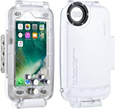 HAWEEL iPhone 7 Plus/ 8 Plus Underwater Housing Professional [40m/130ft] Diving Case for Diving Surfing Swimming Snorkeling Photo Video with Lanyard(iPhone 7 Plus/ 8 Plus, White)
