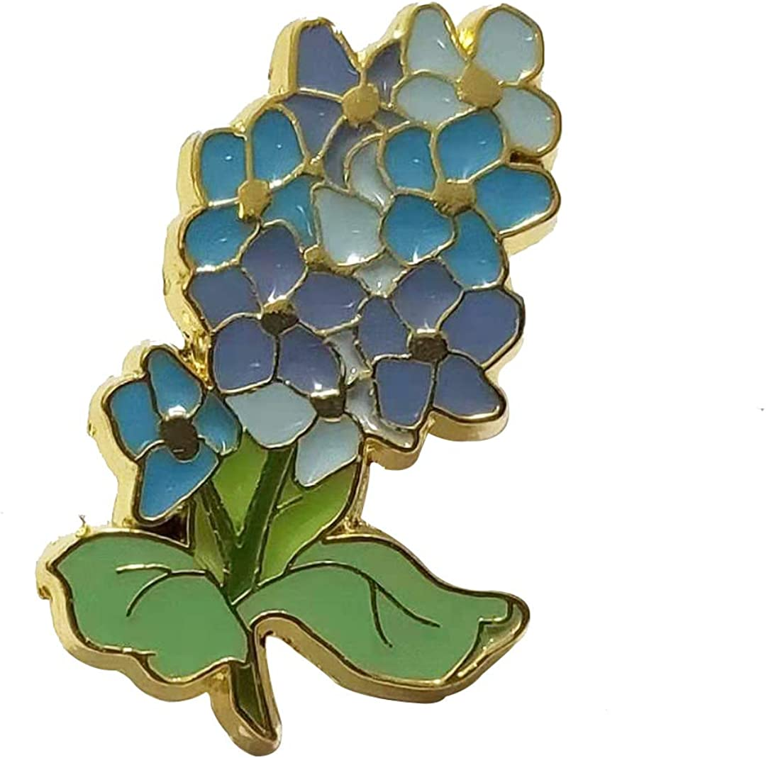 Handmade Color Enamel Lavender Yellow Daisy Flower Brooch and Pin