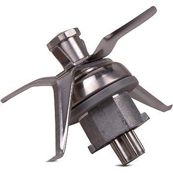 VIOKS - Cuchilla de Repuesto Vorwerk Compatible con Robot de Cocina Thermomix® TM21 - con 4 Cuchillas y Junta incluida - Fabricado en Acero Inoxidable, pequeña: Amazon.es