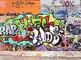 wandmotiv24 Fototapete Graffiti 2 Größe: 350 x 260 cm Wandbild, Motivtapete, Vlietapete KTk26