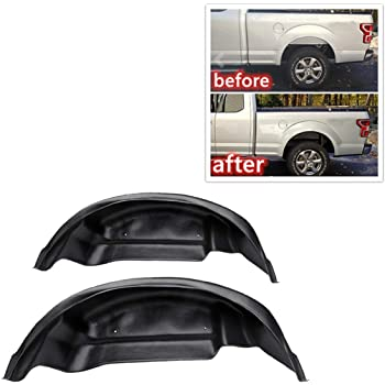 ZGAUTO Rear Inner Fender Mud Flaps Wheel Well Guards Inner Fender Mud Flaps for Ford Ford Raptor F150 2017-2019