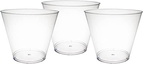 grandes ahorros Party Essentials Hard Hard Hard Plastic 9-Ounce Party Cups Old Fashioned Tumblers, 100 Count, Clear by NW Enterprises - Toys  precios razonables