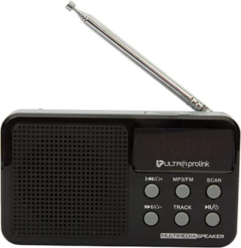 UltraProlink UM0017 Retro Vintage Classic Portable Speaker with FM Radio, Micro SD Card & USB Pen Drive Slots 3W (Black)