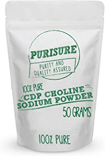 CDP Choline Powder (Citicoline Sodium) 50g (200 Servings), Promotes Cognitive Efficiency, Boosts Mental and Physical Energ...
