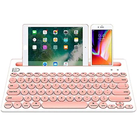 Bluetooth Dual Mode Keyboard,104 Keys 2.4Ghz Multi System Compatible Wireless Portable Game Keyboard for Tablet Mobile Phone Ipad