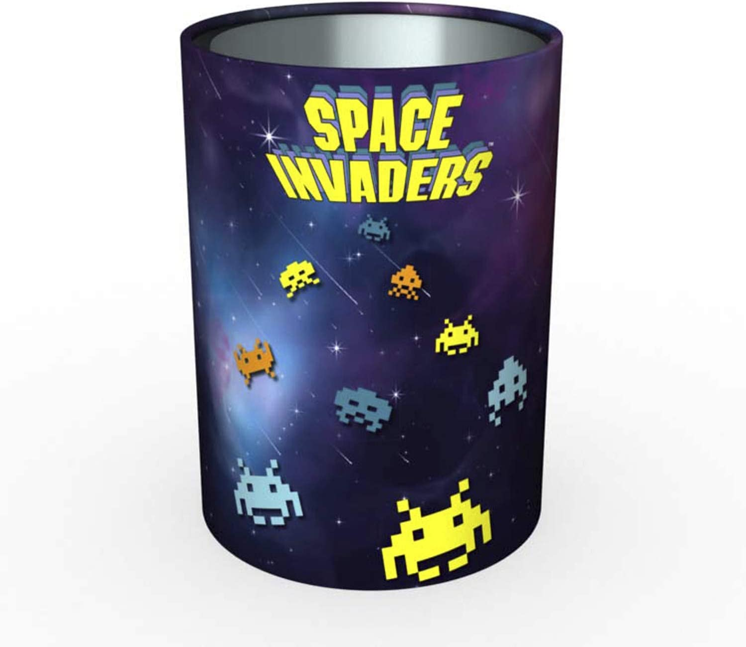 Quo Vadis Space invaders POT A CRAYONS METAL 8x8x10,5cm Cosmos