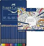 Faber-Castell Art GRIP Aquarelle Watercolor Pencil Set, Tin of 24 Pencils