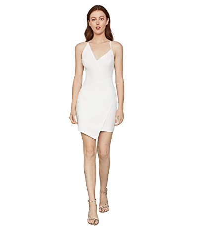 BCBGMAXAZRIA Asymmetrical Hem Cocktail Dress (Off-White) Women