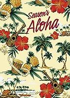 Holiday島シーン–12のセットハワイアンクリスマスカード–Season 's Aloha GLITTERカード