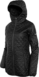 Columbia Women's Blue Square Lodge Mid Lightweight Omni Heat Hooded Jacket