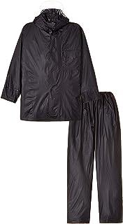 TRUSCO(トラスコ) レインスーツ LLサイズ ネイビー TRW55LL