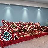 Spirit of 76 Alfombra étnica tribal de Oriente Medio árabe majlis turco kilim estampado sala de estar bar cachimba asiento sofá cama muebles / SHI_FS17