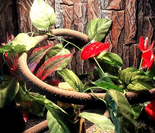 POPETPOP Fish Tank Decorative Vines Artificial Water Plant Aquarium Rattan Ornament Reptiles Plant Landscape