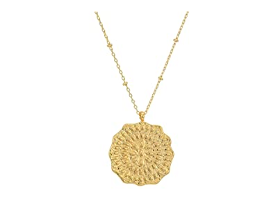 gorjana Mosaic Coin Necklace (Gold) Necklace