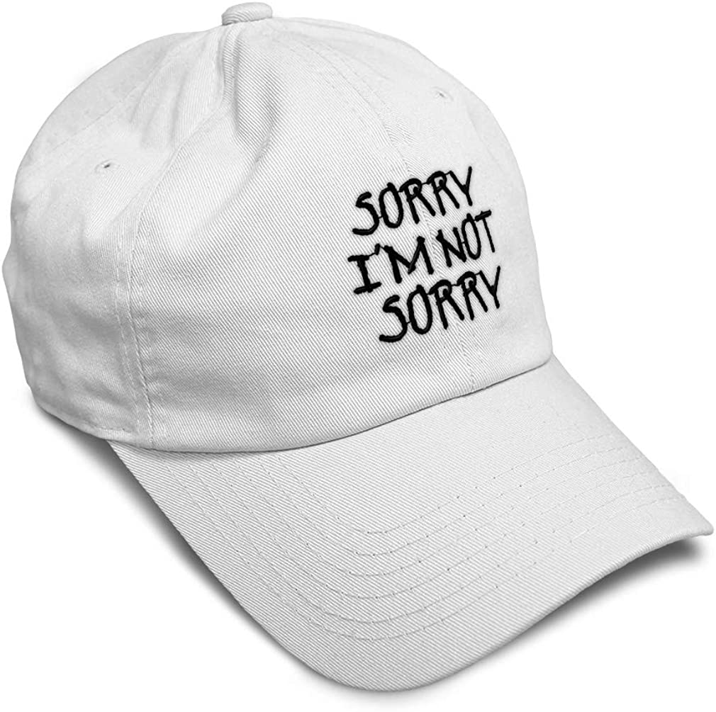 Soft Baseball Cap Sorry Im Not B Embroidery Dad Hats for Men /& Women
