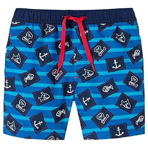 Schiesser Jungen Capt´N Sharky Swimshorts Badeshorts, Blau (Admiral 801), Herstellergröße: 140