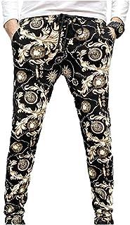 Zimaes الرجال صالح مرونة الخصر طباعة الأزهار جيوب الأزياء عارضة السراويل