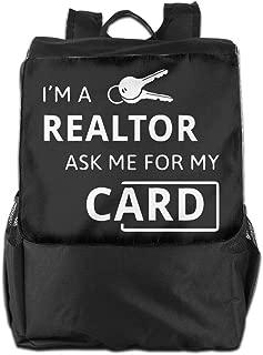 Louise Morrison Real Estate Realtor I'm A Realtor Ask Me Women Men Laptop Travel Backpack College School Bookbag