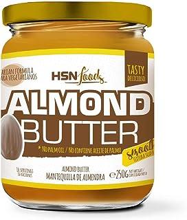 Mantequilla de Almendras de HSN | Textura Cremosa y Suave - Almond Butter Smooth - 100% Natural | Apto Vegetariano - Sin grasa de palma - Sin grasa trans - Sin azúcar ni sal añadidos - 250g