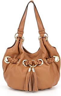 NEW AUTHENTIC MICHAEL KORS TASSELED BRAIDED LEATHER SHOULDER BAG TOTE
