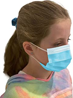MAGID 3 Ply Disposable Kids Face Masks with Adjustable Nose Bridge - Pack of 50 Masks - Breathable 3 Layer Face Mask Cover...