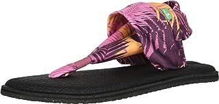 صندل نسائي Sanuk Yoga Sling مطبوع عليه 2، نخيل وردي، مقاس 6 M US