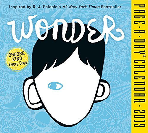 Wonder Page-A-Day Desk Calendar 2019 [5.5' x 6' Inches]