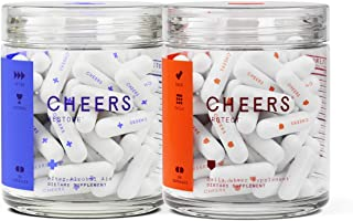 Cheers Restore & Cheers Protect Combo (Single) -Hangover Prevention Pills & Liver Support Supplement Combo for Liver Health & Liver Detox - Contains Milk Thistle Extract and Dihydromyricetin (DHM)