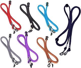 Cadena de Gafas 7 Pcs Sunglass Holder Correa, Ajustable con Seguridad en la Cuerda del cordón Retén de Las Lentes de la Cu...