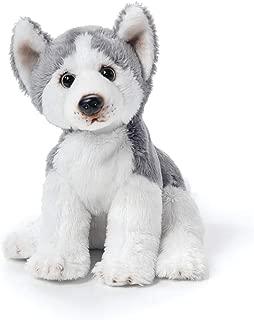 DEMDACO Siberian Husky Children's Plush Beanbag Stuffed Animal Toy 5.5 Inch, Silver