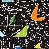 Schwarzer Mathematik Schul Stoff von Timeless Treasures