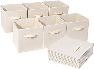 ZTHHS Boîte de Rangement, Ouvrir Le Bac de Stockage, Sacs de Rangement Pliables pour Vêtements Cubes Paniers, pour Commode...