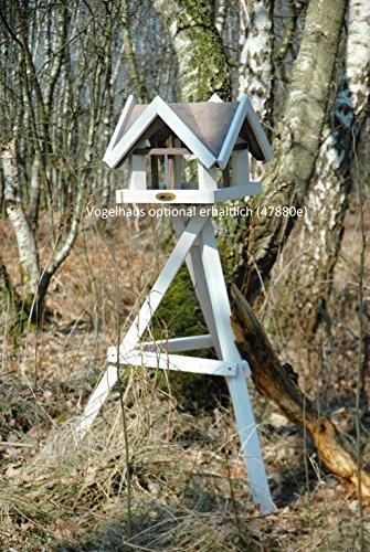 Luxus-Vogelhaus 47300e Edelweißer Vogelhaus-Ständer, dreibeinig aus lasiertem Kiefernholz, 60 x 60 x 90 cm (Ständer für Vogelhaus) - 3