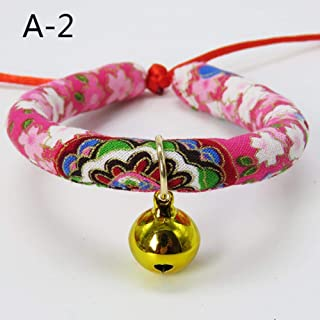 WPANgmz Animal Perro Collar Leash Collar De Perro Ajustable para Gato S con Campanas Collar De Collar De Encanto para Collares De Animales De GatoVenta, A2, M
