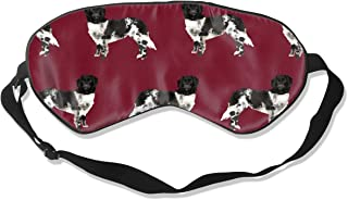 Stabyhoun Dog Stabij Dog Design Ruby Red Silk Sleep Mask Comfortable Blindfold Eye mask Adjustable for Men, Women or Kids