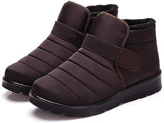JIU SI Hommes Bottes Haute étanche à la Cheville de Neige Chaussures Chaussures Chaude Fourrure Peluche Boucle Chaussures ...
