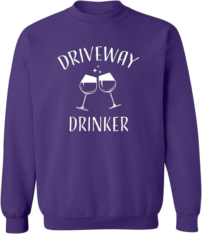 Driveway Drinker-Wine Crewneck Sweatshirt