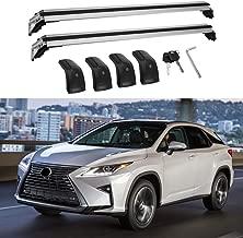 MotorFansClub Roof Racks Crossbars for Lexus RX RX350 RX270 RX300 RX450 2016-2019 Lockable Baggage Luggage Racks Rail
