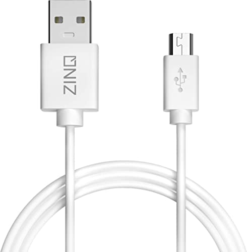 Zinq Super Durable Micro to USB 2.0 Round Cable with High Speed Charging, Quick Data Sync and PVC Connectors for All ...