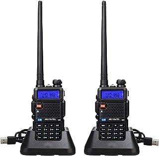Retevis RT5R Walkie Talkie Profesional, Banda Dual Largo Alcance 2 Vías Radio con Cargador de USB, 128 Canales Radio VOX F...