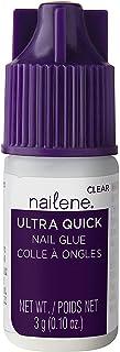 Nailene Ultra Quick Nail Glue, 0.10 oz – Durable, Easy to Apply False Nail Glue – Repairs Natural Nails – Quick-Drying Nai...