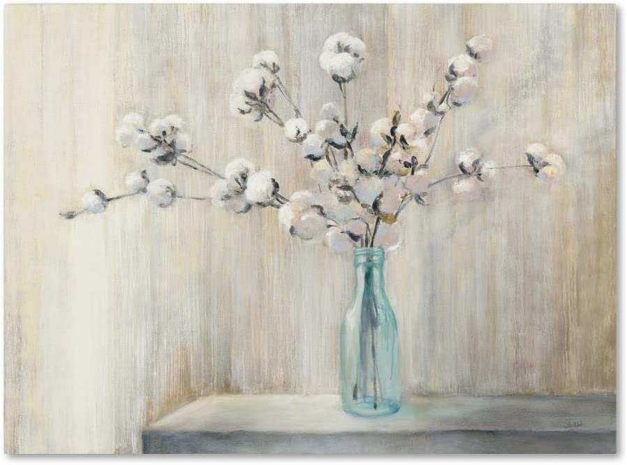 Cotton Bouquet by Julia Purinton, 18x24-Inch Canvas Wall Art