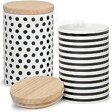 Vorratsbeh/älter Porzellan mit Luftdichtem Verschluss Bambusdeckel LOVECASA Vorratsdosen Set 3er Set Rot