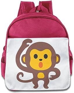 XJBD Custom Funny Cute Monkey Emoji Kids School Bag For 1-6 Years Old RoyalBlue