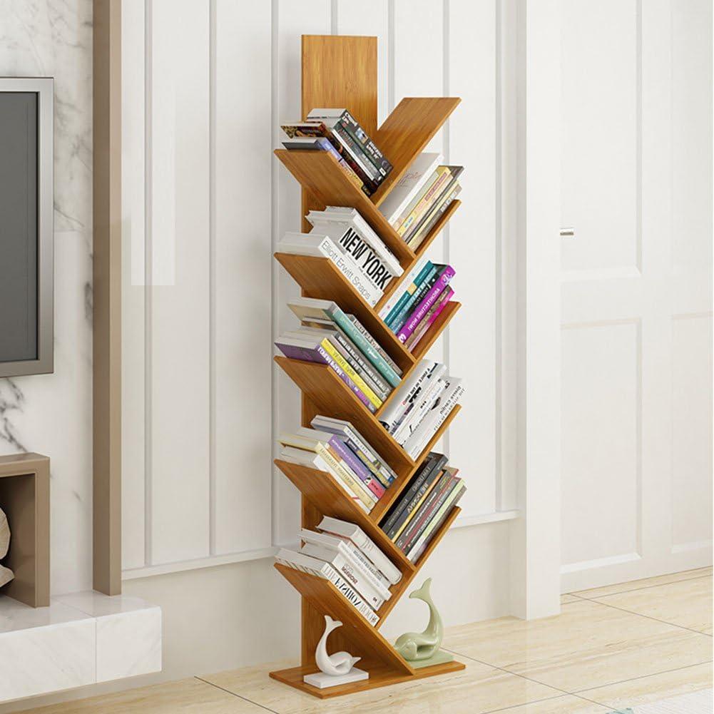 QIANGDA Estante para Libros Librerías Diseño De Dos Niveles ...