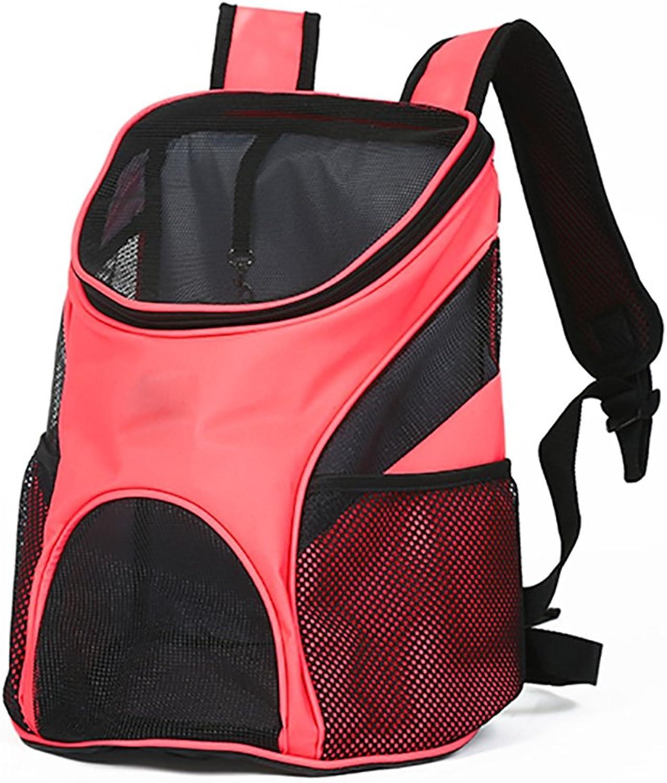 HR Pet Bag Pet Outdoor Travel Breathable Shoulder Bag Cat Bag Dog Bag Out Carrying Bag Travel Backpack Pet Bag Small Pet Hand Shoulders Bag For Travel Hiking Camping (color   RED)