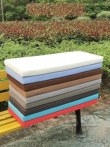 WUWEI - Cuscino per panca da giardino spesso a 2 3 posti, impermeabile, grande tappetino per dondolo con cerniera, per divano lungo, in schiuma antiscivolo